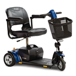 Go-Go Elite Traveller Plus 3-Wheel by Pride Mobility with Blue Shrouds