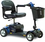 Go-Go Elite Traveller 4-Wheel Scooter by Pride Medical in Blue