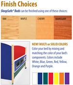 Color chart for Sleep Safe beds to match any decor, style and comfort.