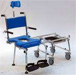 Go-Anywhere Portable Commode, Shower 'n Tub Chair