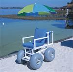 Aqua Creek Beach Access Chair - 4 Large Wheels
