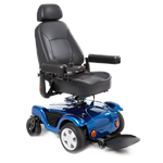 Dualer Power Wheelchair by Merits in blue Front wheel drive