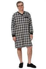 Ovidis Adaptive Clothing Black Stewart Nightshirt for Men