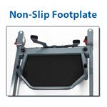 Non-slip footplate keeps patients firmly in place while transferring