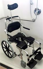 Go-Anywhere Adjustable Self-Propelled Commode 'N Shower Chair