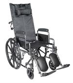 Silver Sport Reclining Wheelchair with Detachable Desk Length Arms