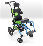 Ki Mobility Little Wave Flip XP Tilting Wheelchair with some accessories