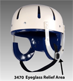 Danmar Hard Shell Safety Helmet - Eye Glass Relief Area