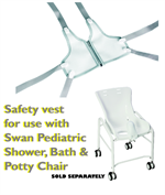 Safety Vest for the Special Needs Snug Seat Swan Shower, Bath and Potty Chair.