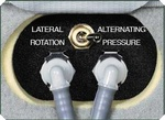 Toggle switch between alternating pressure and lateral rotation