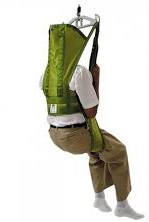 Liko Hygiene Highback Vest Model 55 for users needing head and neck support or with spasticity concerns for easy access to toilets.