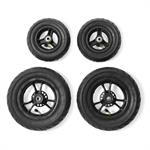 full set of pneumatic wheels
