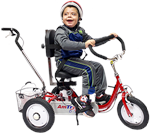 Amtryke ProSeries 1412 Foot Tricycle with Rider