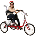 Amtryke ProSeries 1416 Foot Tricycle with rider