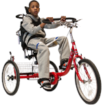 Amtryke ProSeries 1420 Foot Tricycle with Rider