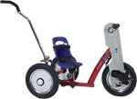 Amtryke AM-12S Hand/Foot Tricycle with Blue Bucket Seat