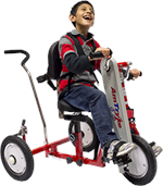 Amtryke 12 Standard Hand/Foot Tricycle With 1600 Seating System with Rider