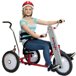 Amtryke AM-16 Standard Hand/Foot Tricycle with Rider