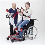 Molift Quick Raiser 2 with patient and wheelchair