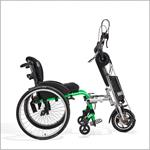 eDragonfly Power Assist Hand Cycle attaches to a wheelchair
